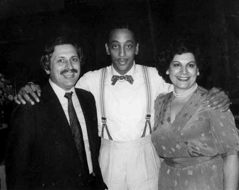 Gregory Hines alongside Mr. & Mrs. H for the filming of The Cotton Club